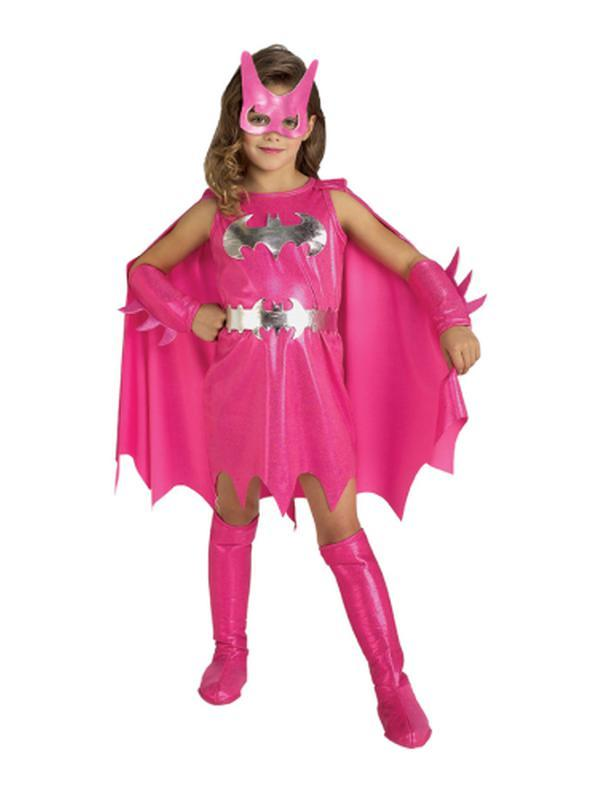 Batgirl Pink - Size S-Costumes - Girls-Jokers Costume Hire and Sales Mega Store