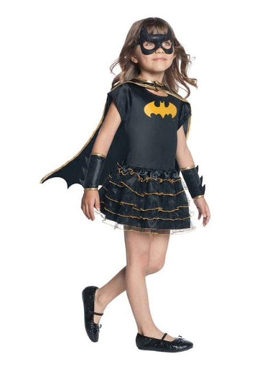Batgirl Ruffle Tutu Dress Up Set - 4-6 Years.-Costumes - Girls-Jokers Costume Hire and Sales Mega Store