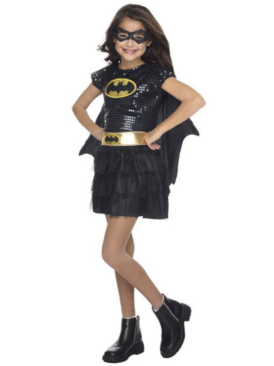 Batgirl Sequin Costume - Size Toddler-Costumes - Girls-Jokers Costume Hire and Sales Mega Store
