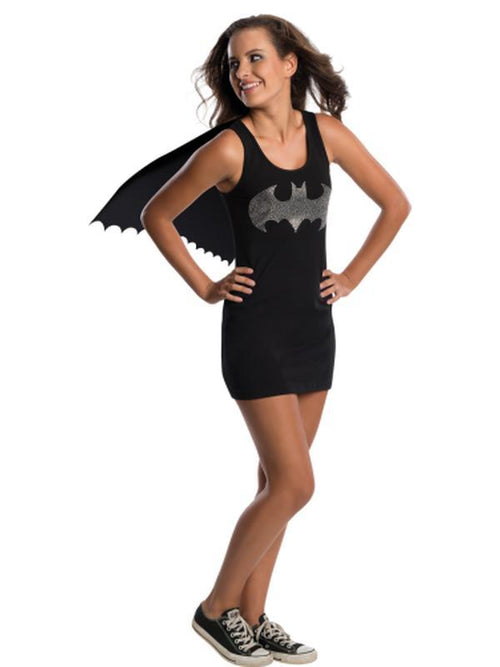 Batgirl Tank Dress Teen - Size M-Costumes - Girls-Jokers Costume Hire and Sales Mega Store