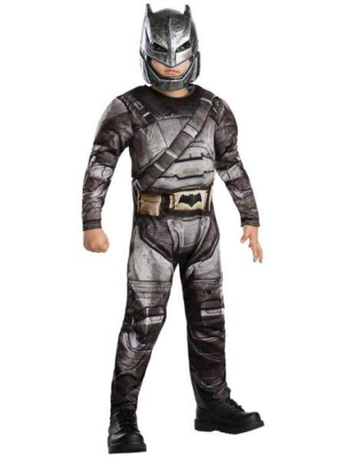 Batman Armour Deluxe Costume - Size 9-10-Costumes - Boys-Jokers Costume Hire and Sales Mega Store