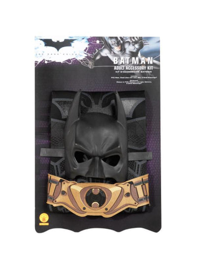 Batman Blister Set Adult - Size Std-Costumes - Mens-Jokers Costume Hire and Sales Mega Store