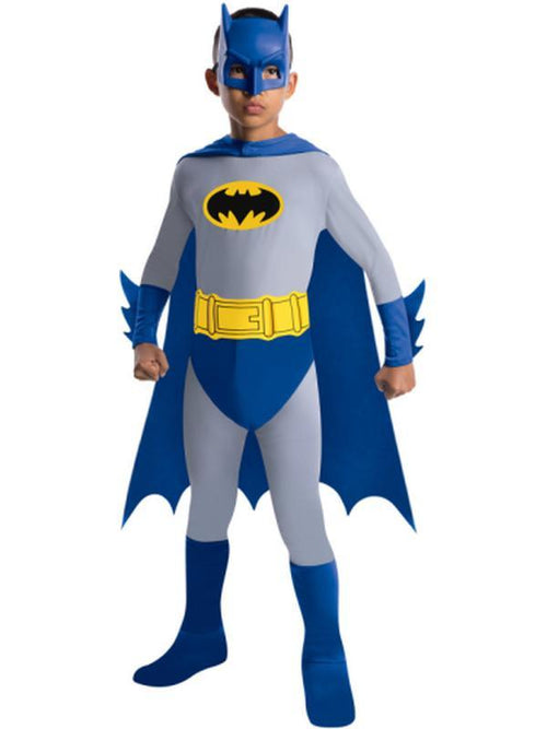 Batman Brave And Bold Classic Costume - Size L-Costumes - Boys-Jokers Costume Hire and Sales Mega Store