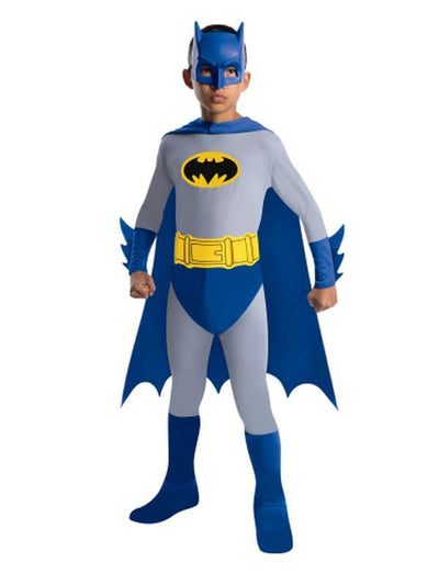 Batman Brave And Bold Classic Costume - Size S-Costumes - Boys-Jokers Costume Hire and Sales Mega Store