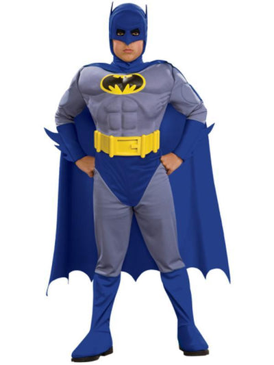 Batman Brave And Bold Deluxe Costume - Size L-Costumes - Boys-Jokers Costume Hire and Sales Mega Store