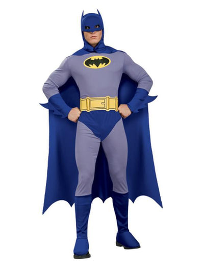 Batman Brave & Bold Adult - Size S-Costumes - Mens-Jokers Costume Mega Store