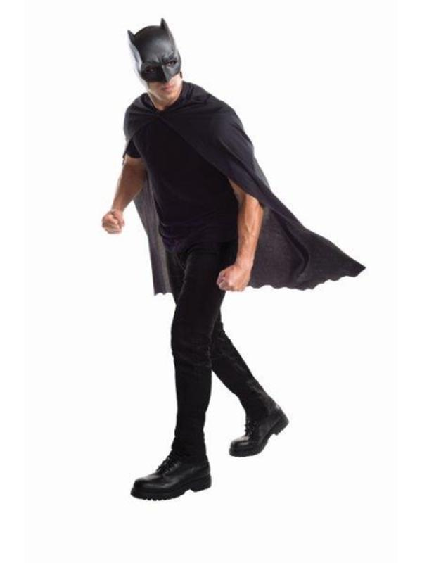 Batman Cape And Mask Set - Size Std-Masks - Latex-Jokers Costume Hire and Sales Mega Store