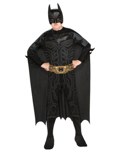 Batman Dark Knight Easywear Costume - Size M-Costumes - Boys-Jokers Costume Hire and Sales Mega Store