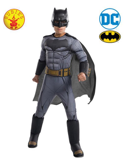 BATMAN DELUXE COSTUME - SIZE M-Costumes - Boys-Jokers Costume Hire and Sales Mega Store