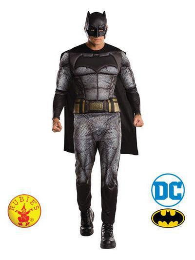 BATMAN DELUXE JLM COSTUME - SIZE STD-Costumes - Mens-Jokers Costume Hire and Sales Mega Store