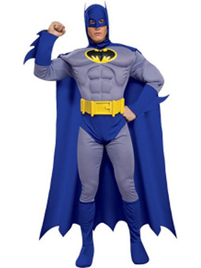 Batman Deluxe M/C Adult - Size S-Costumes - Mens-Jokers Costume Hire and Sales Mega Store