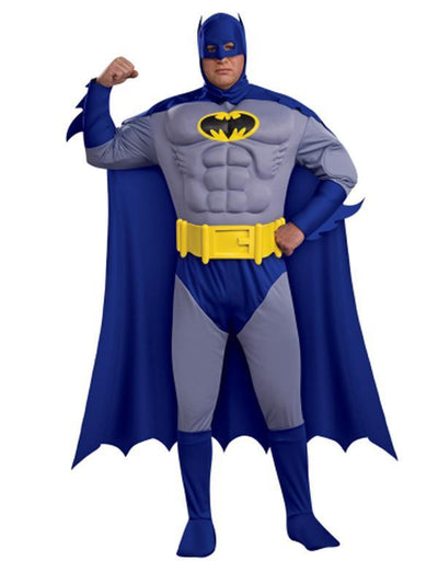 Batman Deluxe Muscle Chest - Size Plus-Costumes - Mens-Jokers Costume Hire and Sales Mega Store