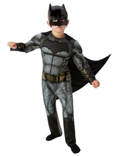 Batman Doj Deluxe Costume - Size 9-10-Costumes - Boys-Jokers Costume Hire and Sales Mega Store