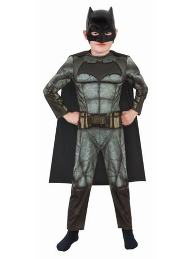 Batman Doj Deluxe Costume - Size L-Costumes - Boys-Jokers Costume Hire and Sales Mega Store