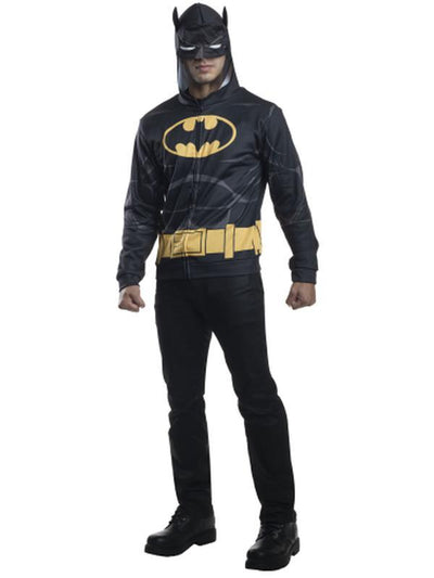 Batman Hoodie - Size M-L-Costumes - Mens-Jokers Costume Hire and Sales Mega Store