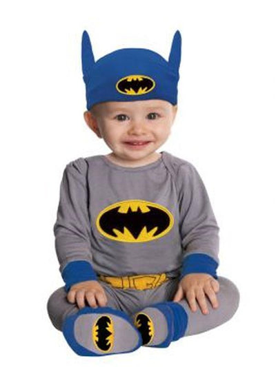 Batman Onesie (Grey/Blue) - Size 6-12 Months-Costumes - Boys-Jokers Costume Hire and Sales Mega Store