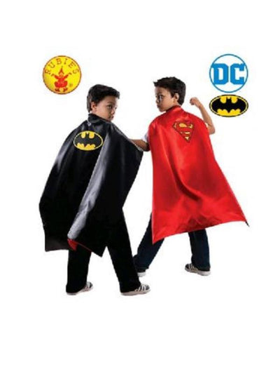 BATMAN TO SUPERMAN REVERSIBLE CAPE CHILD-Costumes - Boys-Jokers Costume Hire and Sales Mega Store