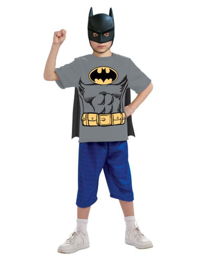 Batman Tshirt - Size S-Costumes - Boys-Jokers Costume Hire and Sales Mega Store