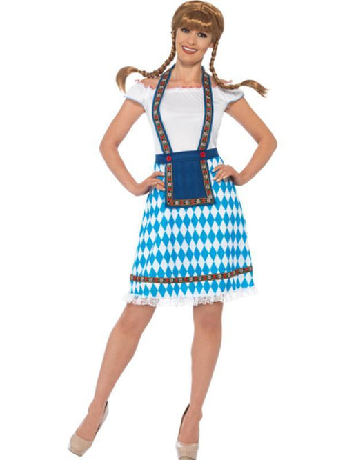 Bavarian Maid Costume - Blue-Costumes - Women-Jokers Costume Hire and Sales Mega Store