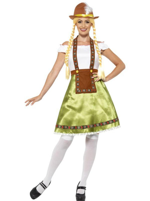 Bavarian Maid Costume - Green-Costumes - Women-Jokers Costume Hire and Sales Mega Store