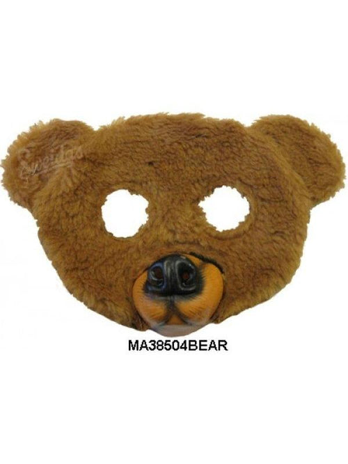 Bear 1/2 Mask-Masks - Animal-Jokers Costume Hire and Sales Mega Store