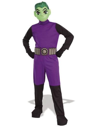 Beast Boy Teen Titan Child - Size M-Costumes - Boys-Jokers Costume Hire and Sales Mega Store