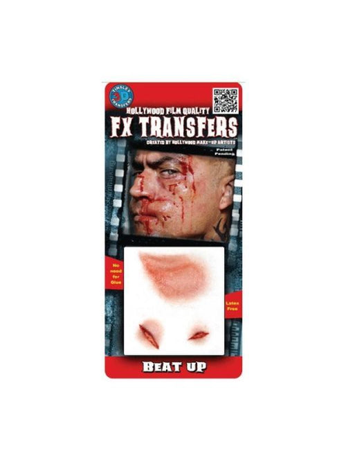 Beat Up - 3D FX Transfer - Small-Halloween Makeup & Special FX-Jokers Costume Hire and Sales Mega Store