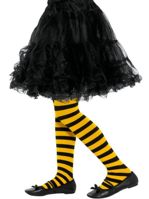 Bee Stripe Tights, Childs-Leg Wear-Jokers Costume Hire and Sales Mega Store