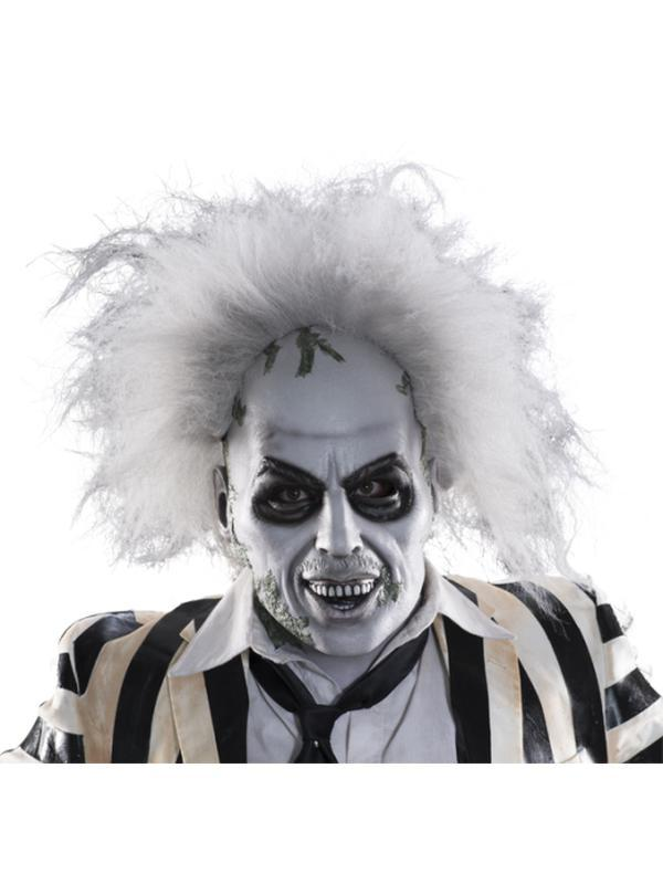 Beeetlejuice Overhead Mask W/Hair-Masks - Latex-Jokers Costume Hire and Sales Mega Store