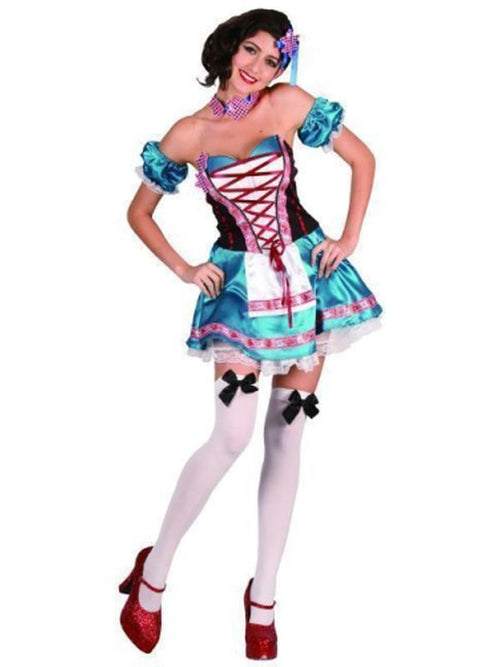 Beer Girl - Blue - Med/Large-Costumes - Women-Jokers Costume Hire and Sales Mega Store