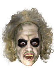 Beetlejuice 3/4 Vinyl Mask With Hair-Masks - Latex-Jokers Costume Hire and Sales Mega Store