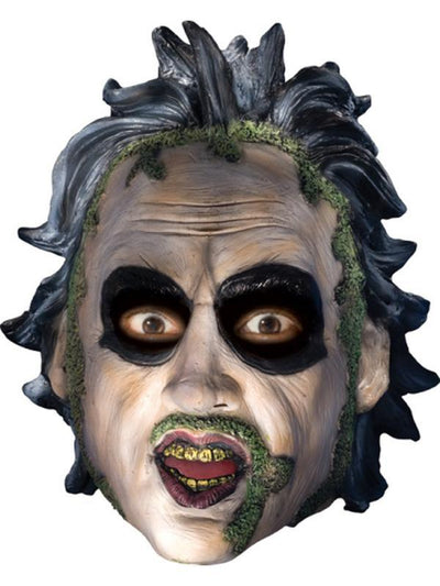 Beetlejuice 3/4 Vinyl Mask-Masks - Latex-Jokers Costume Hire and Sales Mega Store
