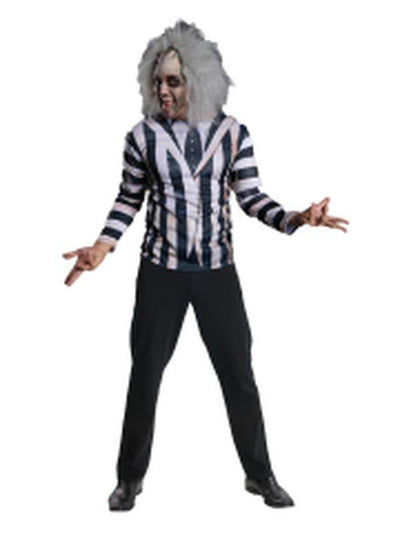 Beetlejuice Costume Kit - Size Std-Costumes - Mens-Jokers Costume Hire and Sales Mega Store