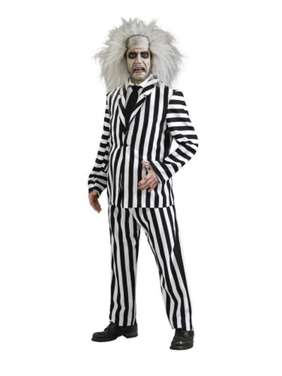 Beetlejuice Deluxe Adult - Size Std-Costumes - Mens-Jokers Costume Hire and Sales Mega Store