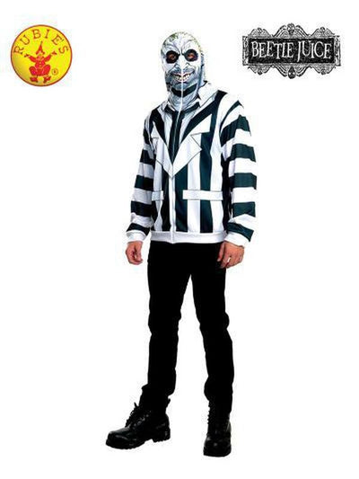 BEETLEJUICE HOODIE - SIZE STD-Costumes - Mens-Jokers Costume Hire and Sales Mega Store