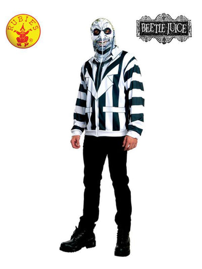 BEETLEJUICE HOODIE - SIZE XL-Costumes - Mens-Jokers Costume Hire and Sales Mega Store