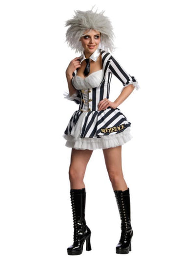 Beetlejuice Secret Wishes Costume - Size L-Costumes - Women-Jokers Costume Hire and Sales Mega Store