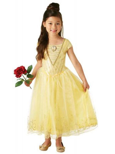 Belle Live Action Deluxe Child Costume - Size 6-8-Costumes - Girls-Jokers Costume Hire and Sales Mega Store