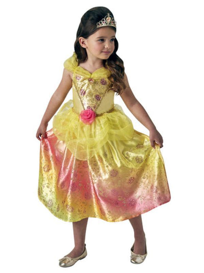 Belle Rainbow Deluxe Costume - Size 6-8-Costumes - Girls-Jokers Costume Mega Store