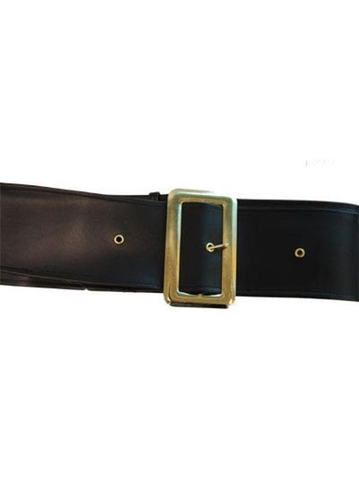 Belt Black PVC 67 Inches - Santa/Pirate-Costume Accessories-Jokers Costume Hire and Sales Mega Store