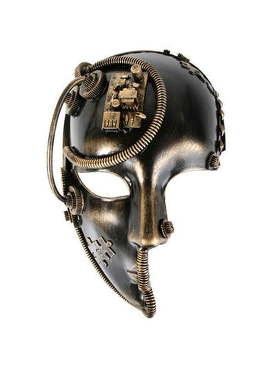 Benedict Steampunk 3/4 Face Mask-Masks - Masquerade-Jokers Costume Hire and Sales Mega Store