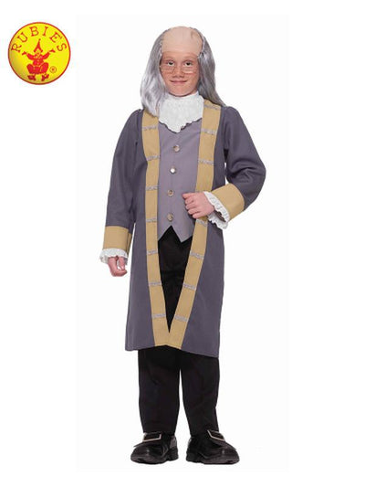 BENJAMIN FRANKLIN CLASSIC COSTUME - SIZE L-Costumes - Boys-Jokers Costume Hire and Sales Mega Store