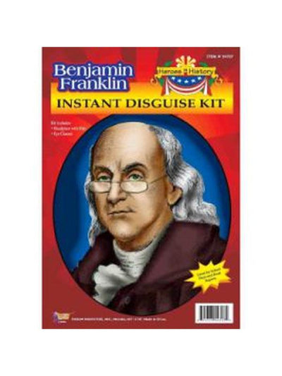 Benjamin Franklin Wig & Eyeglasses Kit-Wigs-Jokers Costume Hire and Sales Mega Store
