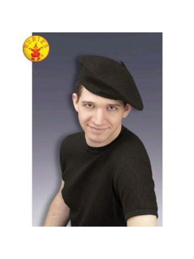 Beret Hat - Adult-Hats and Headwear-Jokers Costume Hire and Sales Mega Store