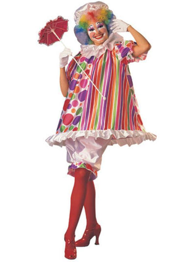 Betty Brite Clown - Size Std-Costumes - Women-Jokers Costume Hire and Sales Mega Store