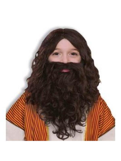 Biblical Wig And Beard Set - Child-Costumes - Boys-Jokers Costume Hire and Sales Mega Store