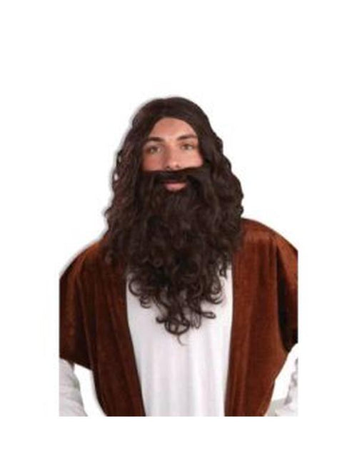 Biblical Wig & Beard Set - Adult-Wigs-Jokers Costume Hire and Sales Mega Store