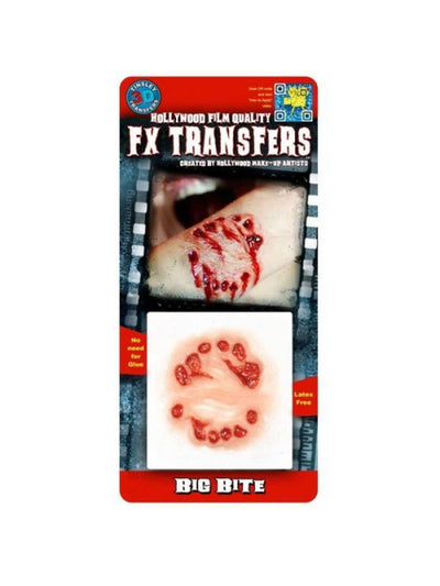 Big Bite - 3D FX Transfer - Small-Halloween Makeup & Special FX-Jokers Costume Hire and Sales Mega Store