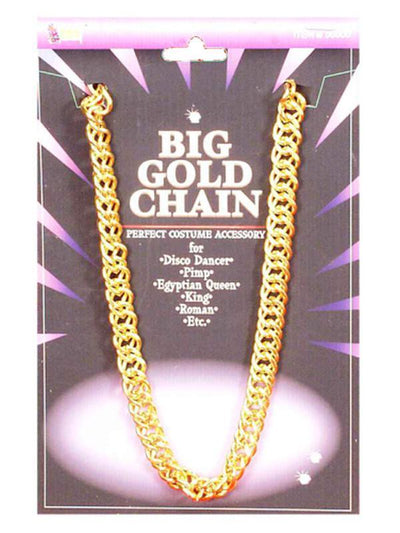 Big Gold Pimp Chain - 100cm-Costume Accessories-Jokers Costume Hire and Sales Mega Store
