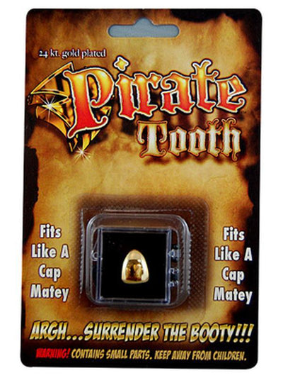 Billy Bob Teeth - Gold Pirate Tooth-Teeth-Jokers Costume Hire and Sales Mega Store